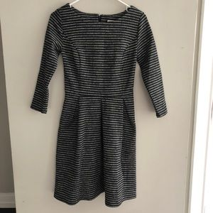 Cozy Merona Black/Gray Striped Knit Dress Size XS